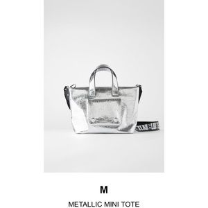 Zara Metallic mini tote